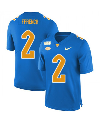 Men's Nike Pittsburgh Panthers 2 Maurice Ffrench Game Blue Jersey